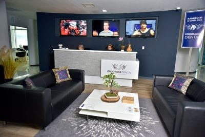 Goodness Dental Reception Area with coffe bar